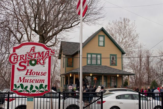 The original A Christmas Story House in Cleveland, Ohio. via #thoughtandsight #youllshootyoureyeout