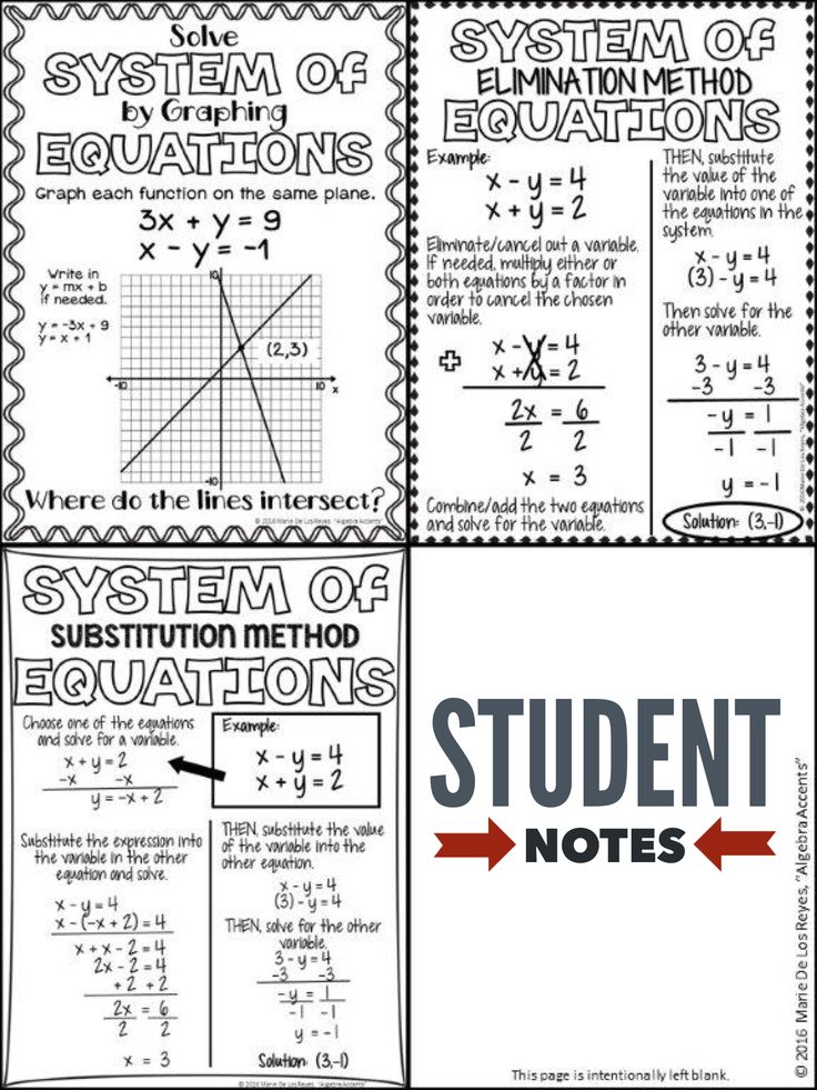 Best 25+ Systems of equations ideas on Pinterest | Review ...
