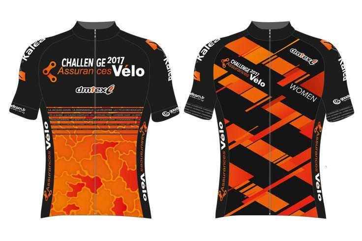Les maillots des leaders hommes et femmes du Challenge Assurances Vélo - © Challenge Assurances Vélo  Toute reproduction, même partielle, sans autorisation, est strictement interdite.