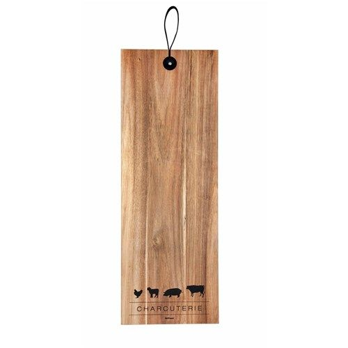 Salt & Pepper Butcher Rectangle Board With Straps | Cutting & Chopping Boards - House