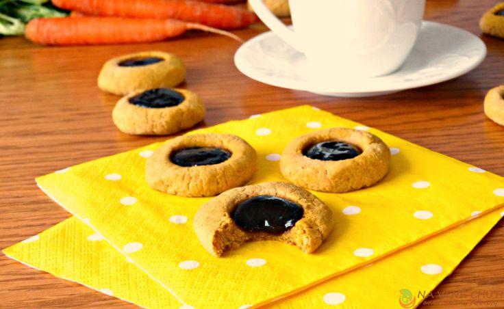 Cizrnovo-mrkvové koláčky s povidly – Na vlně chuti – Jitčiny Dobroty