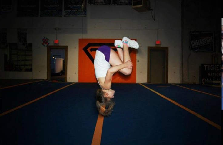 Kylie doing a back tuck | Cheer perfection | Pinterest