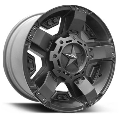 KMC Wheels XD Series 811 Rockstar II in Flat Black for 07-15 Jeep Wrangler JK & JK Unlimited