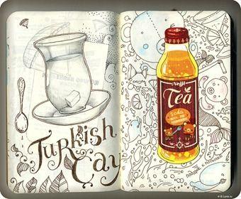"""Turkish Çay"". Sketchbook."
