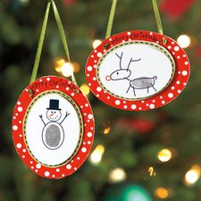 {thumbprint ornaments} so cute! (cute gift idea)