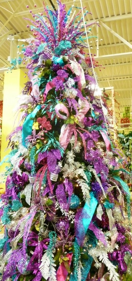 Pin by arcadia floral home decor houston tx on - Pink and blue christmas tree ...