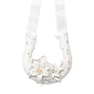 Sculptural White Tiger Lilies Lucky Horseshoe