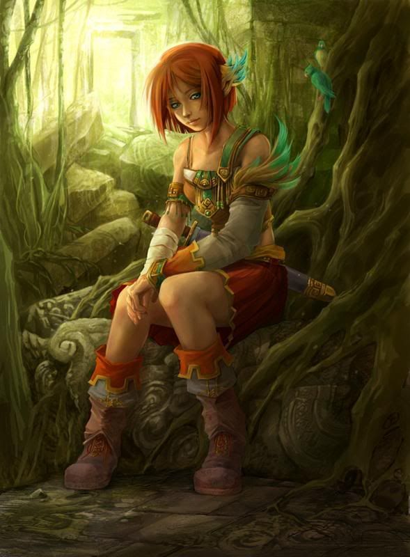 Image result for short haired elf woman