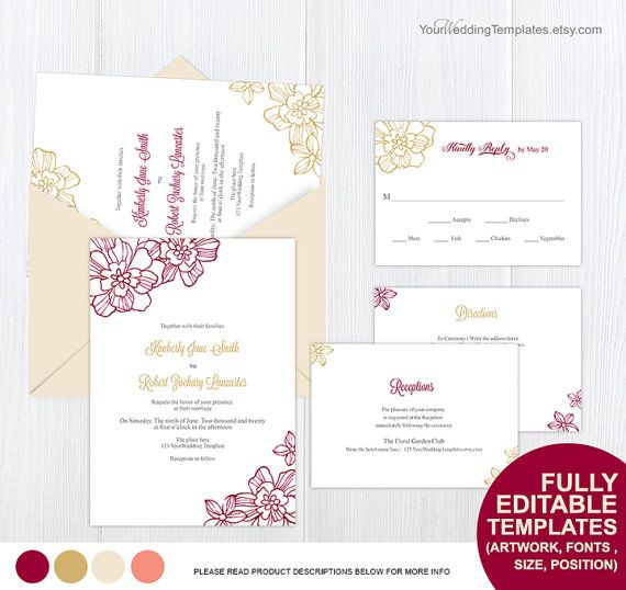 23 best Wedding invitation templates images on Pinterest - microsoft white paper template