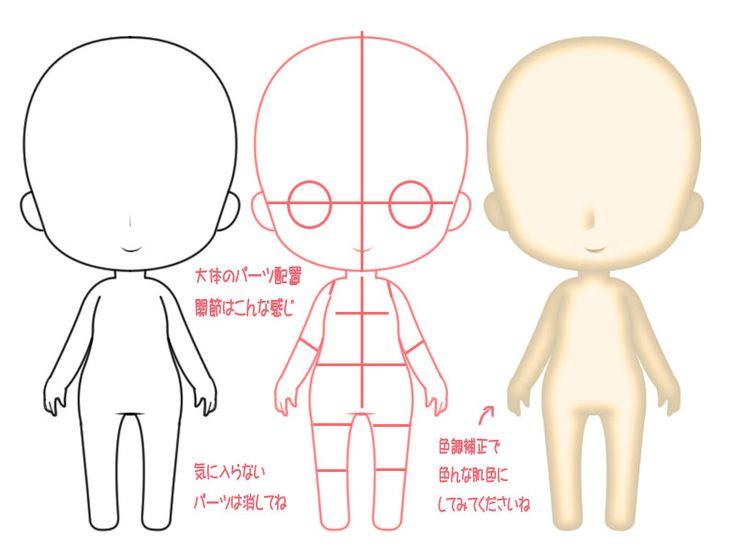 Для, картинки выкройка аниме кукол
