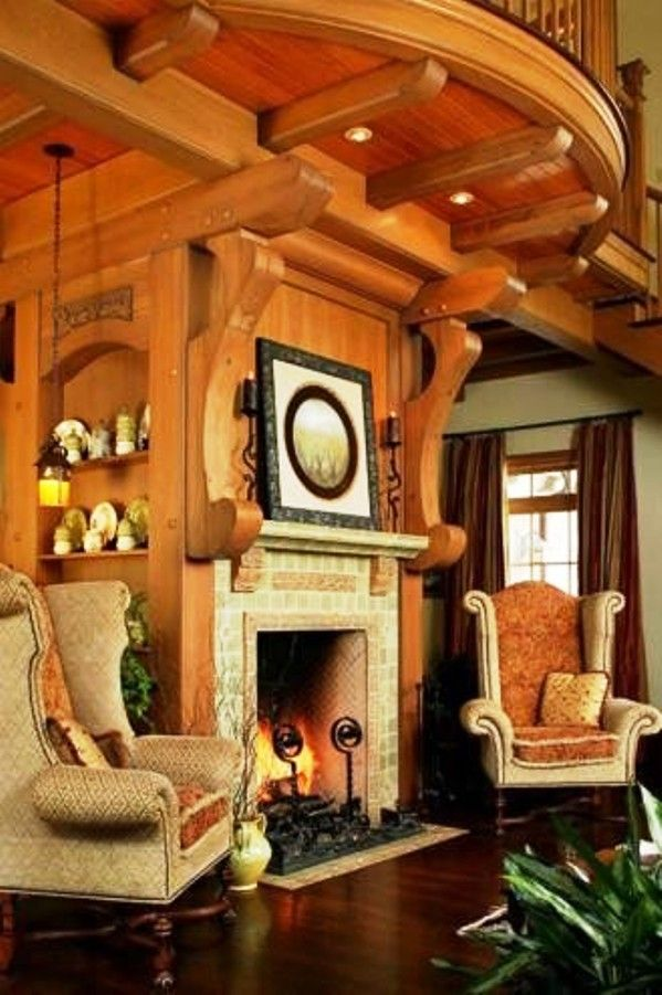 tudor interior design | ... tudor living room with fireplace Andie ...