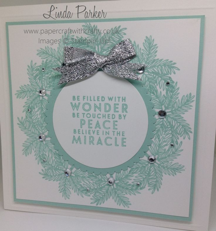 Christmas Wreath using Totally Trees by Stampin' Up! http://www.papercraftwithcrafty.co.uk/2016/10/pootlers-design-team-christmas-themed.html