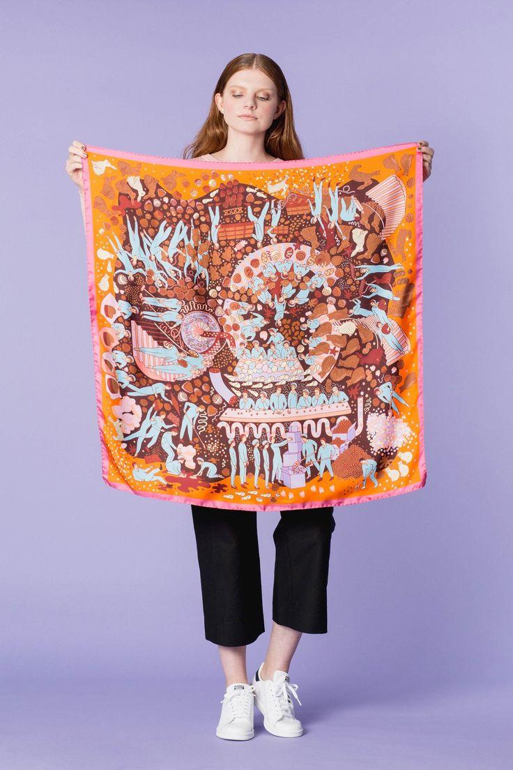 Cashmere Silk Scarf - Chroma by VIDA VIDA 7mu9otFslf