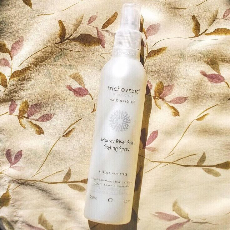 A medium hold styling spray which provides volume body and texture. #trichovedic #hairwisdom #luxuryhaircare #murrayriversaltspray