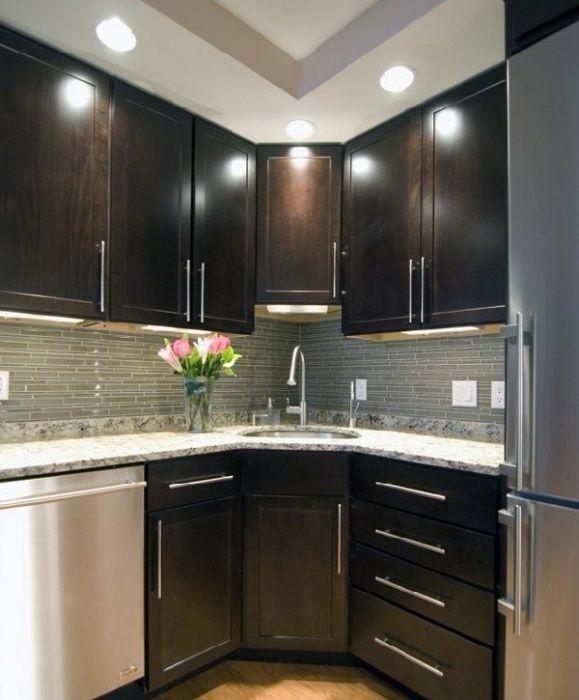 Освещение маленькой кухни - фото