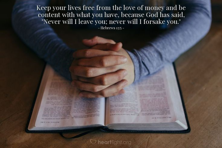 Hebrews 135keep your lives free from the love of money