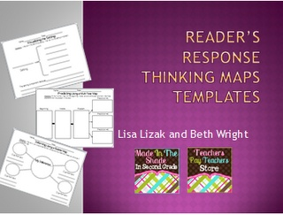 50 pages of Reader's Response Template {FREEBIES}!Guide Reading, Reading Response, Reading Workshop, Templates Freebies, Reader Response, Graphics Organic, Response Templates, Thinking Maps, 2Nd Grade