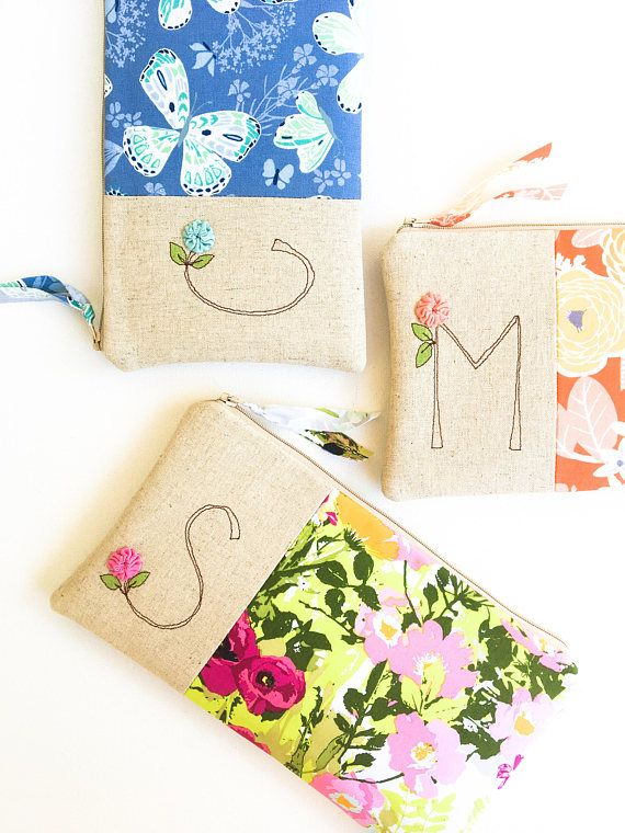 Mother of the Groom Gift From Bride, Floral Monogram Clutch, Thank You For Raising the Man of My Dreams, Floral Initial Clutch