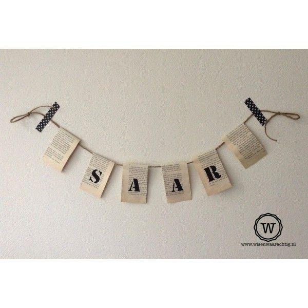 papieren slinger met naam |gratis verzenden