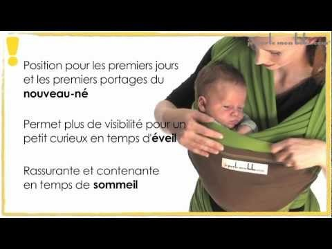 """Tuto écharpe de portage : porter bébé en position """"Assis de profil"""" - JPMBB - YouTube"""