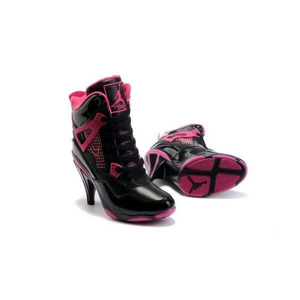 shopusaoutlet.com - Black & Pink Nike Air Jordan 4 High Heels