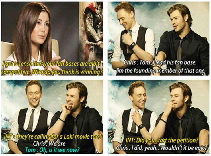 Tom Hiddleston and Chris Hemsworth and tne Loki movie we all wish would be filmed  <3