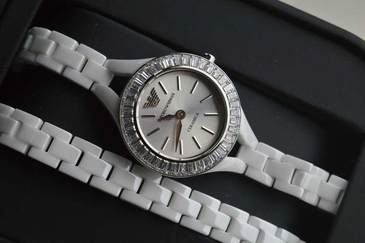 Emporio Armani Damenuhr CERAMICA AR1482 Damen Uhr Ladies Watch