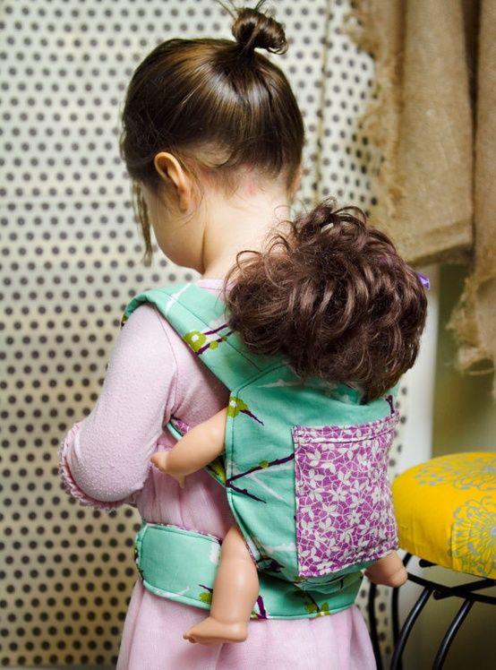DIY baby doll carrier pattern, so cute!