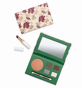 Victoria Lake Palette from Arbonne Be stunning this season with an all-in-one palette inspired by the enchanting scenery of Victoria Lake. Discover glimmering mineral-infused eye shadows, sheer plum lip color, and a hint of illumination for the cheeks. It's holiday elegance with colorful impact. Includes four eye shadows: Ripple, Maple, Dawn, and Cloud; Glisten Cheek Highlighter; and Sunset Sheer Moisture Lipstick.