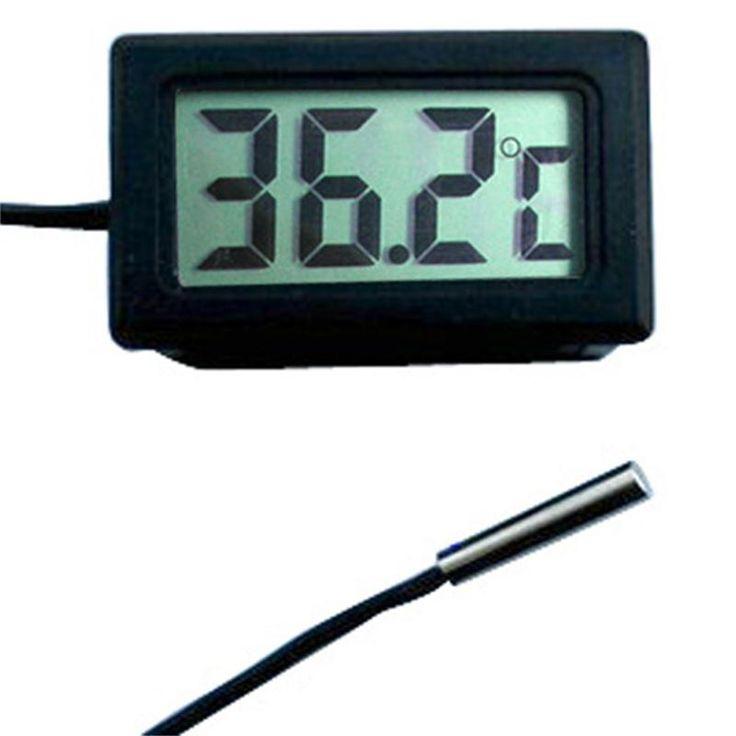 LCD Digital Probe Thermometer Thermograph Untuk Kulkas Freezer Kulkas Aquarium-50 ~ 110 Derajat 20mm P10 Tahan Air Penyelidikan