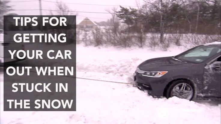 Heres what you should do when your car gets stuck in the snow
