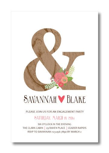 21 best engagement invites images on Pinterest Engagement party - engagement party invites templates