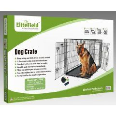 EliteField 48 Two Door Folding Dog Crate 48 Long X 30 Wide X 32 High