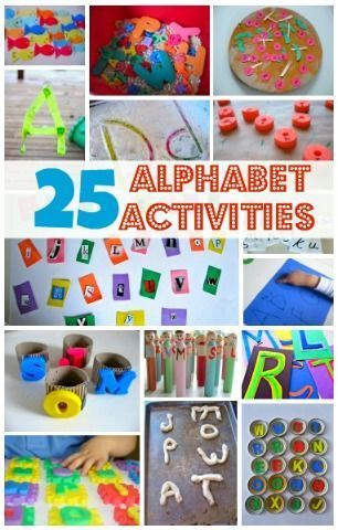 Play with the alphabet with letter crafts for kids! Great preschool literacy activities from no time for flash cards.