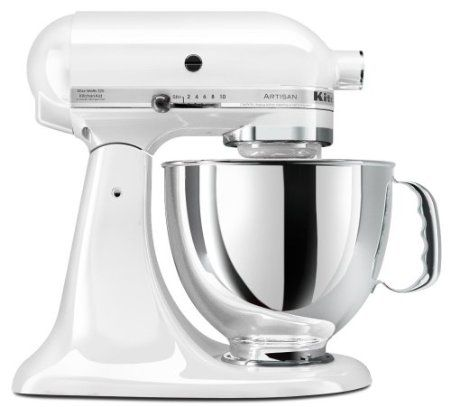 KitchenAid KSM150PSWH Artisan Series 5-Quart Mixer, White: Kitchen & Dining  Another gift  I'd want from Santa
