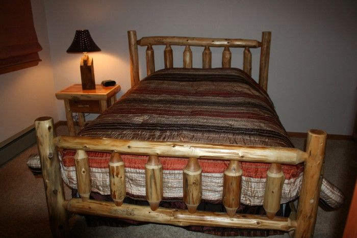 1000 Ideas About Log Bed On Pinterest Log Furniture