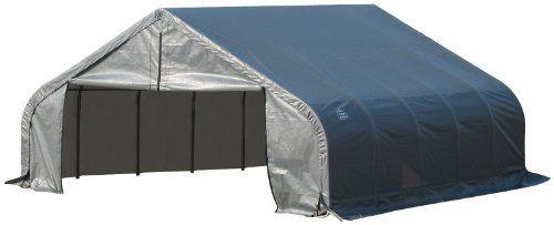 ShelterLogic 80024 Grey 18'x28'x12' Peak Style Shelter by ShelterLogic. $1699.95