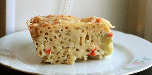 Запеченная паста в духовке с брокколи и цветной капустой: брокколи, цветная капуста, макароны, сметана, сыр, горчица, чеснок