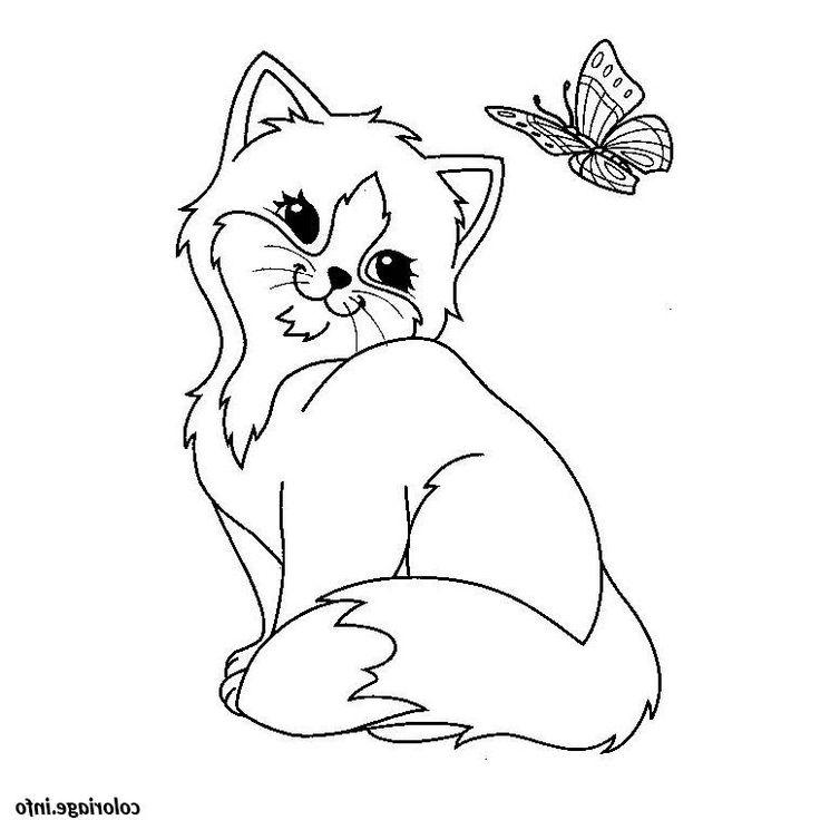 chaton mignon coloriage 2226 en 2020 | Coloriage chaton ...