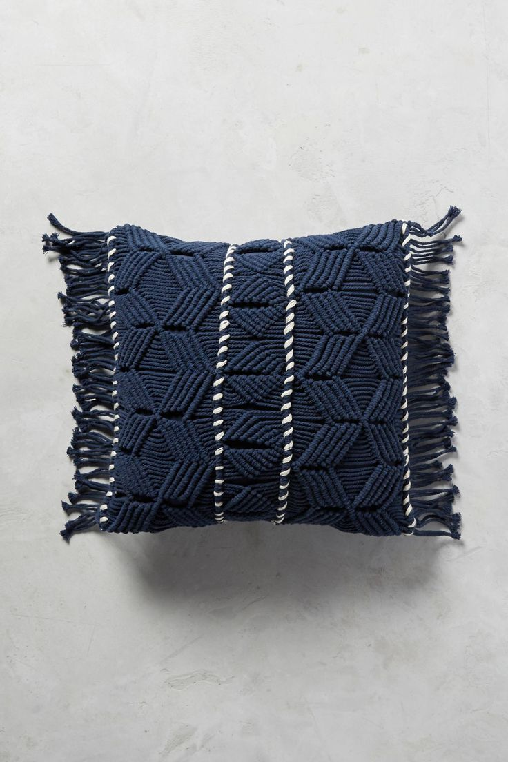 Slide View: 2: Fringed Diendra Pillow