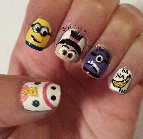 despicable me unicorn nails -#main