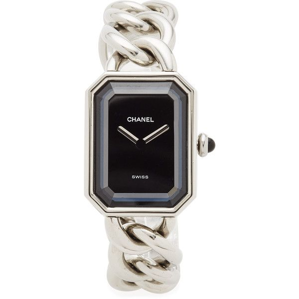 Pre-owned What Goes Around Comes Around Chanel Watch Premeir Watch... ($3,255) ❤ liked on Polyvore featuring jewelry, watches, silver, oversized wrist watch, pre owned jewelry, preowned watches, oversized jewelry and pre owned watches