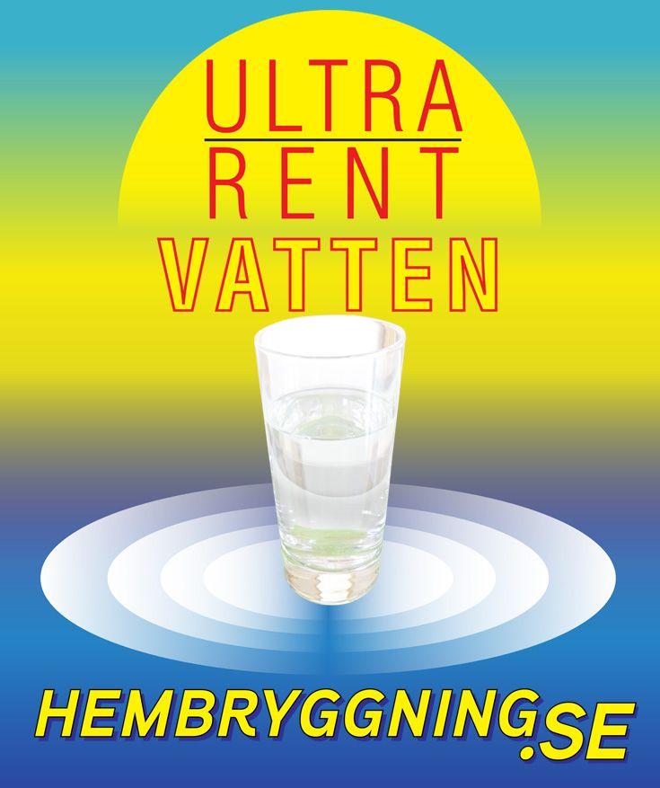 Ultrarent vatten - När vattnet måste vara helt rent. Livsmedelskvalitet   Garanterad renhet 0 microSiemens (uS). För kännedom ligger destillerat vatten ofta på 2-3 uS.
