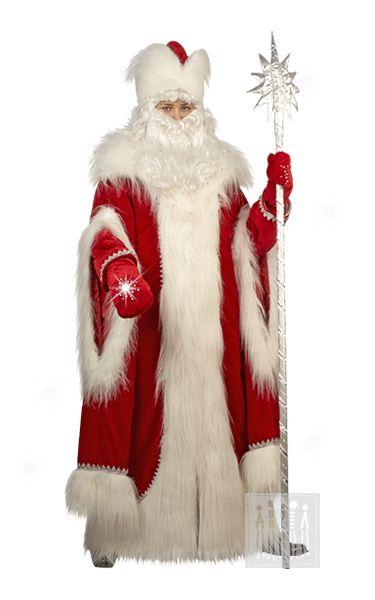 Карнавальный костюм Дед Мороз Русский красный Купить новогодний костюм Русского…