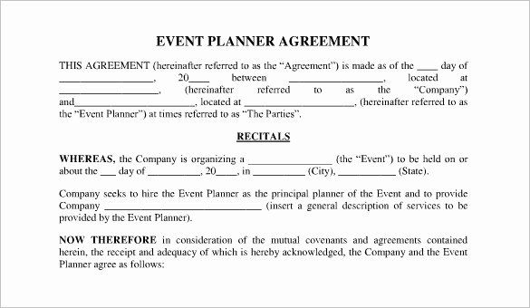 Event Planning Contract Template Free Unique Event Contract Template 23 Word Excel Pdf Docume Event Planning Contract Event Planning Template Contract Template