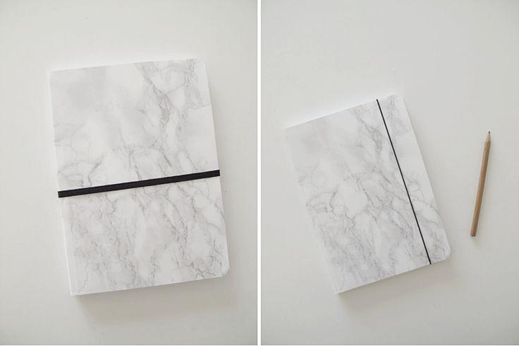 DIY—marble notebook