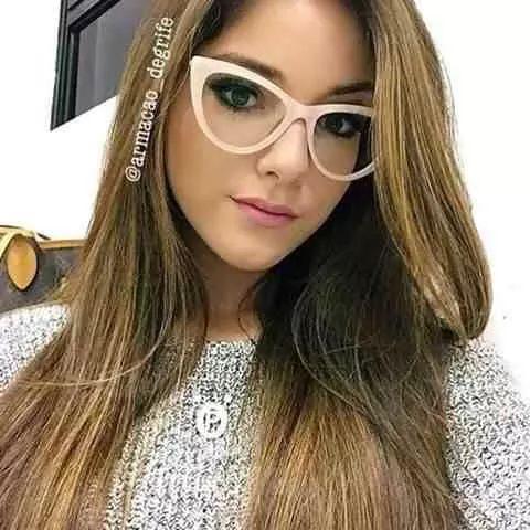 armação   oculos de grau gatinho nude …   Glases   Pinte… 58b094e869