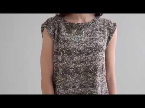 Renee Shell Knitting Pattern in Filatura di Crosa's TEMPO Yarn - YouTube