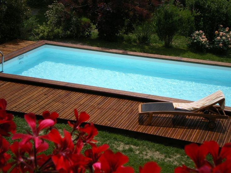12 best Piscine images on Pinterest Piscine hors sol, Pool spa and - piscine hors sol beton aspect bois