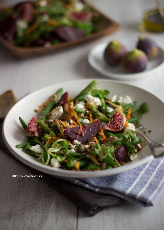 Μια εύκολη και υγιεινή σαλάτα με φασολάκια, παντζάρι και quinoa